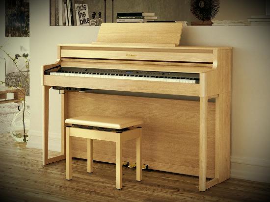 Roland HP700 - новая линейка цифровых фортепиано