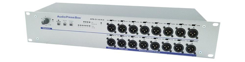 Фото AudioPressBox APB-D116 R-D c интерфейсом Dante