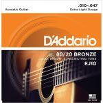 Купить D'addario EJ-10 Струны для акустической гитары (10-47)