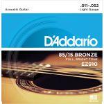 Купить D'addario EZ-910 Струны для акустической гитары (11-52)