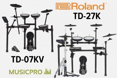 Новинки от V-Drums! Электронные ударные установки Roland TD-07KV и TD-27K.