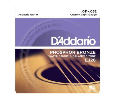 Струны для акустической гитары D'addario EJ-26