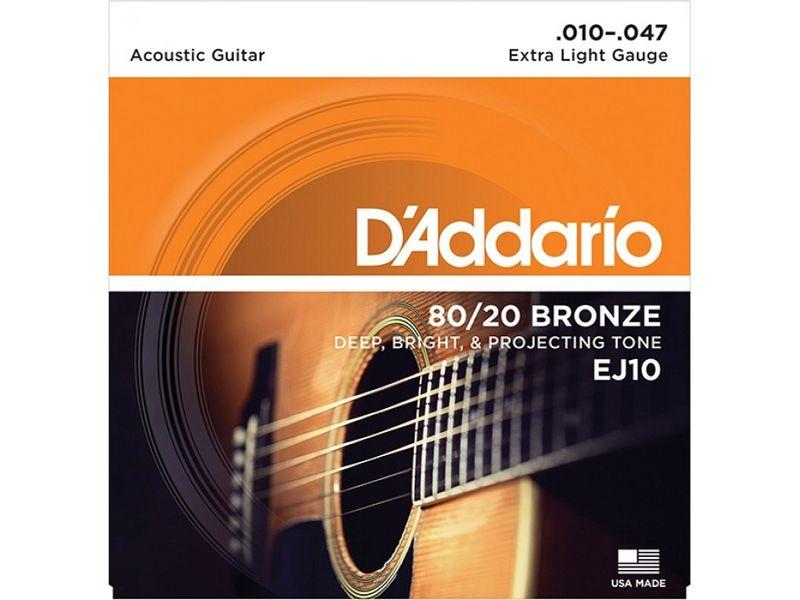 Купить D'addario EJ-10 Струны для акустической гитары