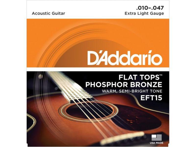 Купить D'addario EFT15 Струны для акустической гитары