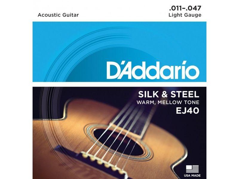 Купить D'addario EJ-40 Струны для акустической гитары