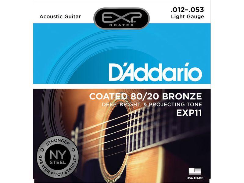 Купить D'addario EXP-11 Струны для акустической гитары