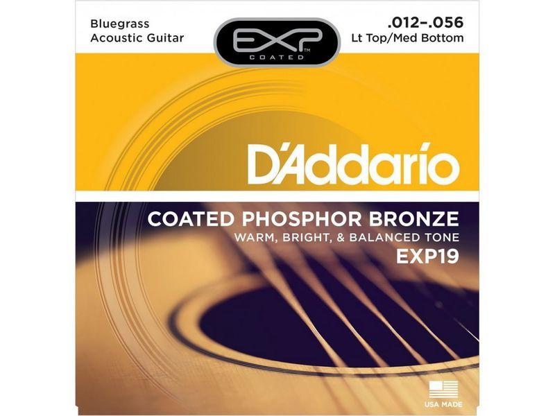 Купить D'addario EXP-19 Струны для акустической гитары (12-56)