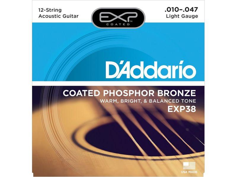 Купить D'addario EXP-38 Струны для акустической гитары