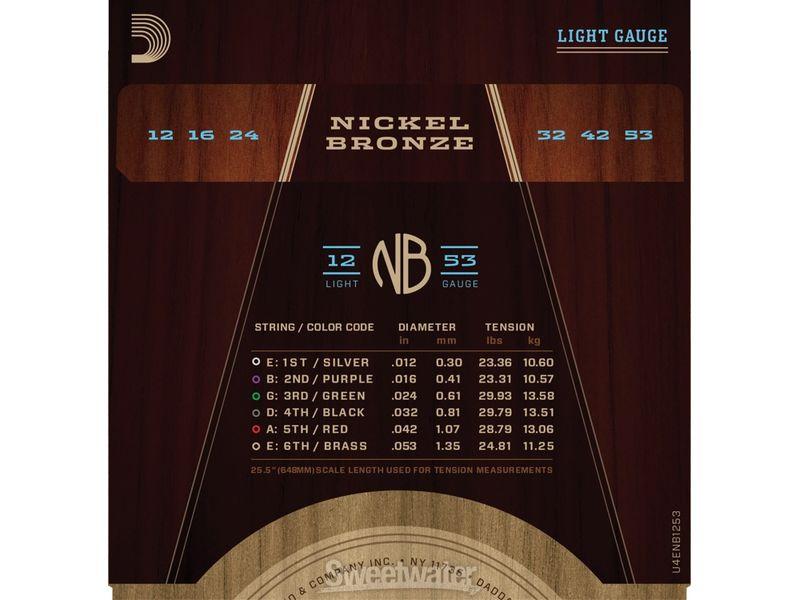 Купить D'addario NB1253 Струны для акустической гитары (12-53)