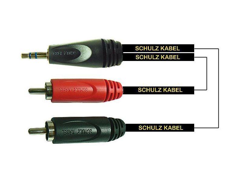 Купить Schulz Kabel RCA32 Кабель с разъемами stereo mini jack * 2RCA 3 m
