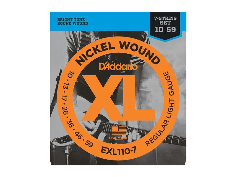 Купить D'addario EXL-110-7 Струны для электрогитары