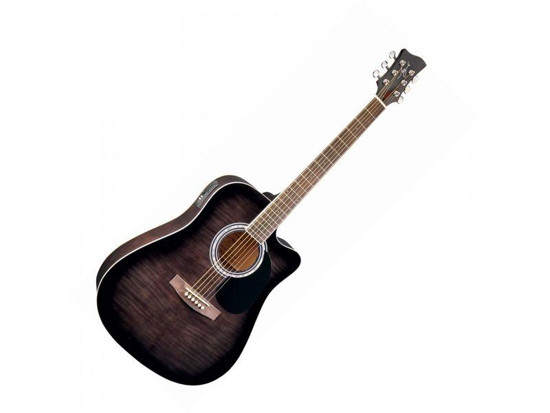 Купить Jay Turser JJ45FCET-BKSB Гитара электроакустическая