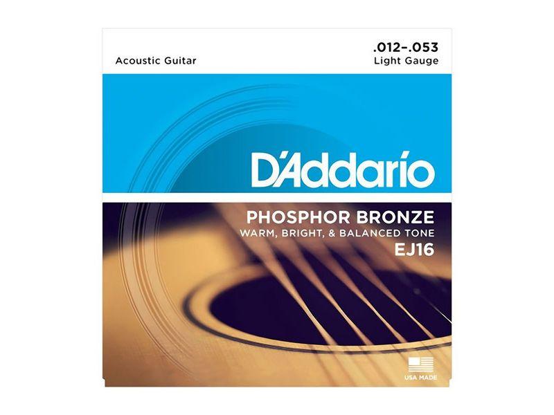 Купить D'addario EJ-16 Струны для акустической гитары (12-53)