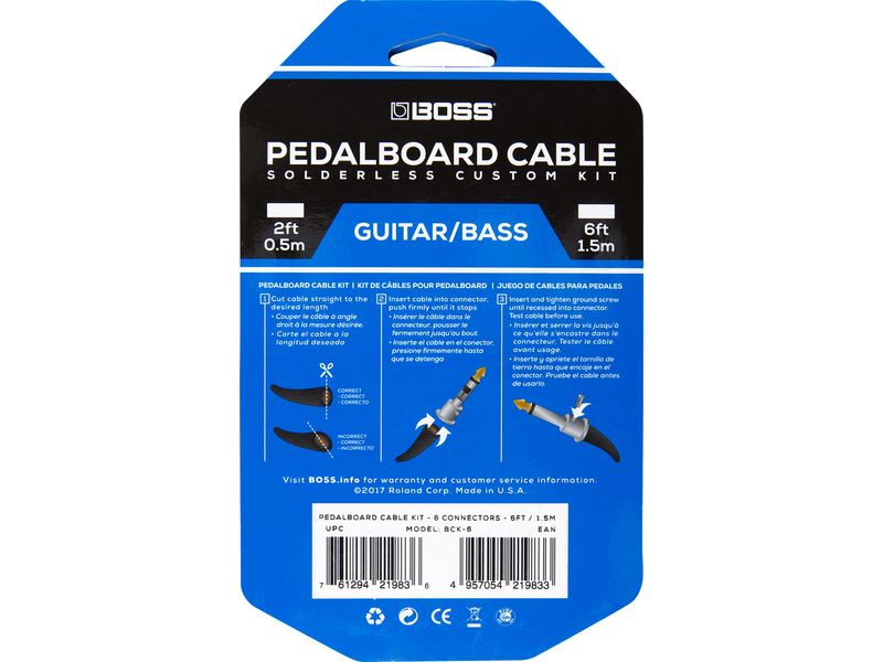 Купить BOSS BCK-6 Комплект кабелей для педалборд