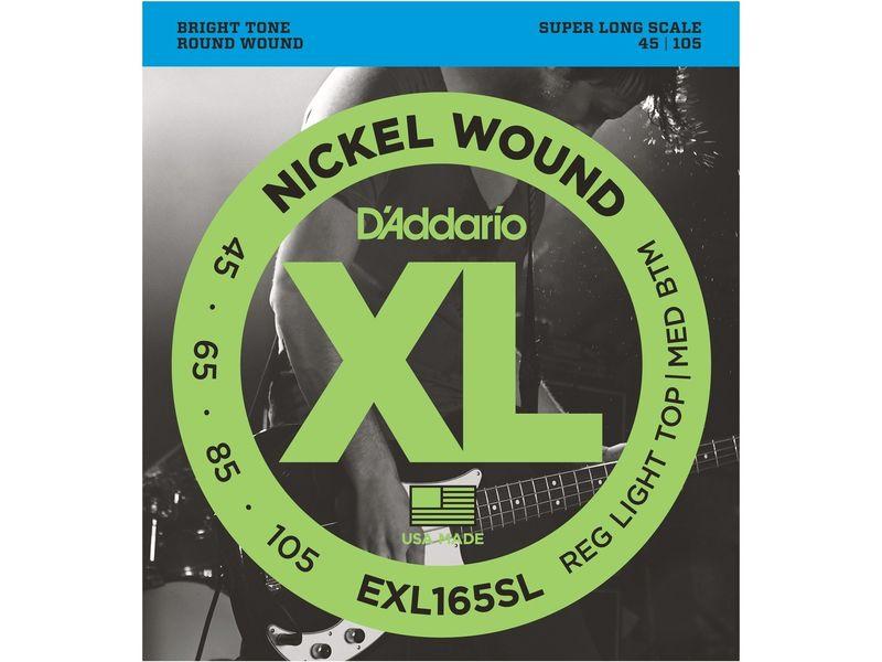 Купить D'addario EXL-165SL Струны для бас-гитары (45-105)