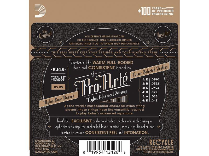 Купить D'addario EJ-45 Струны для классической гитары