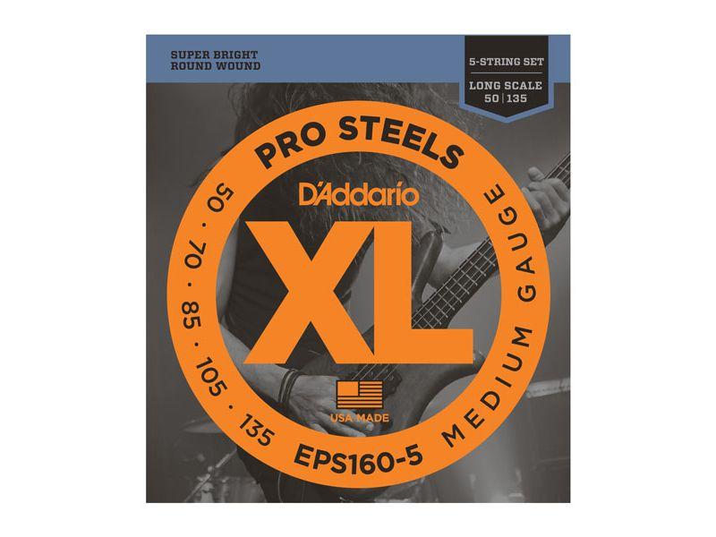 Купить D'addario EPS-160-5 Струны для бас-гитары (50-135)