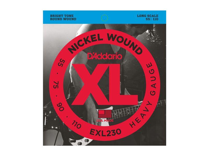 Купить D'addario EXL-230 Струны для бас-гитары (55-110)