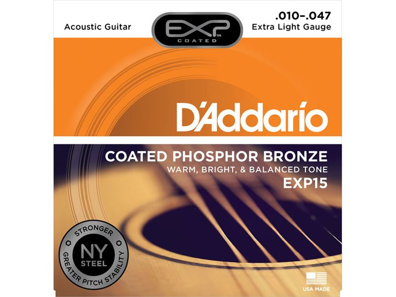 Купить D'addario EXP-15 Струны для акустической гитары (10-47)