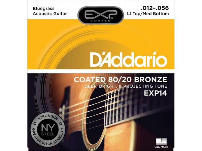 Купить D'addario EXP-14 Струны для акустической гитары (12-56)