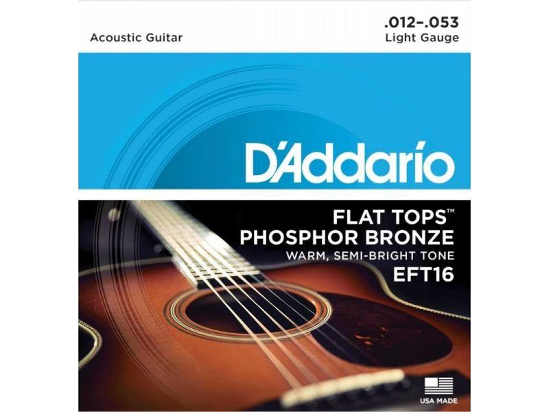 Купить D'addario EFT16 Струны для акустической гитары (12-53)