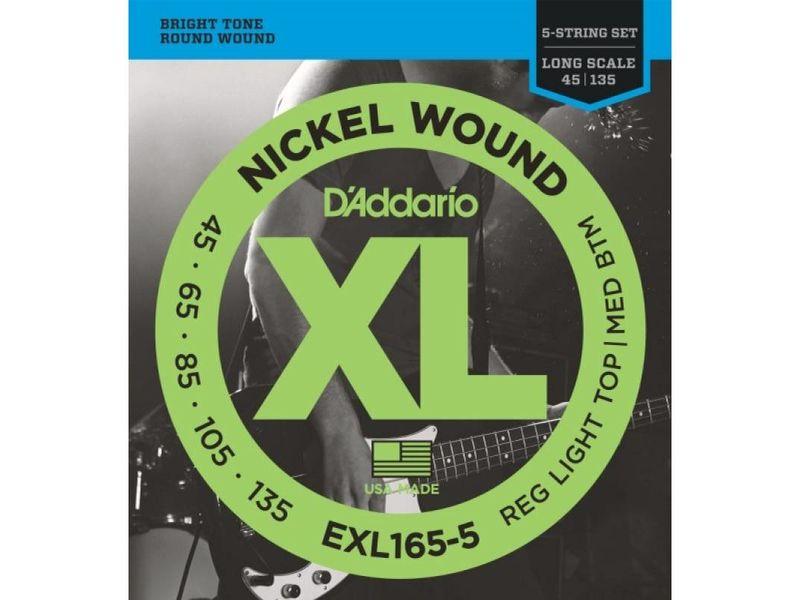 Купить D'addario EXL-165-5 Струны для бас-гитары (45-135)