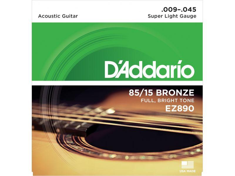 Купить D'addario EZ-890 Струны для акустической гитары (9-45)