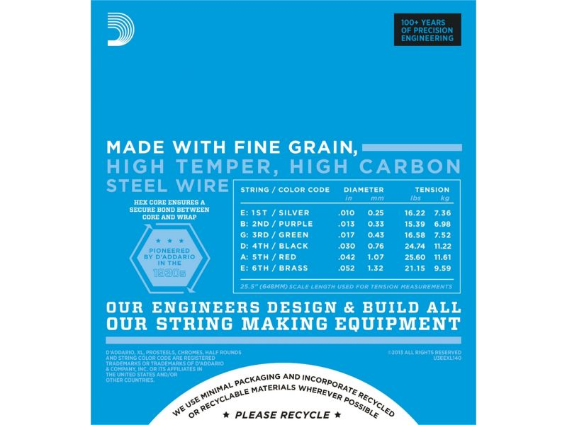 Купить D'addario EXL-140 Струны для электрогитары