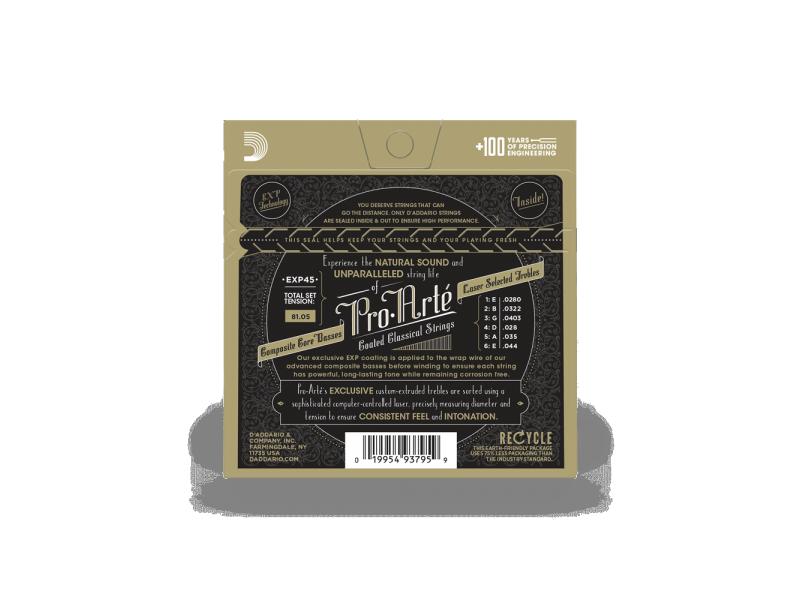 Купить D'addario EXP-45 Струны для классической гитары